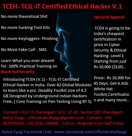 TCEH V.1 Penetration Testing in Punjab